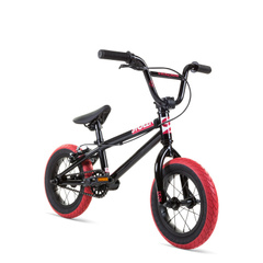 "фото Велосипед 12"" Stolen AGENT 13.25"" 2021 BLACK W/ DARK RED TIRES"
